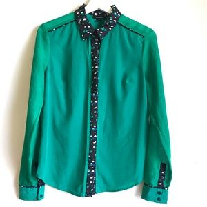 Tops - Gorgeous Emerald Blouse
